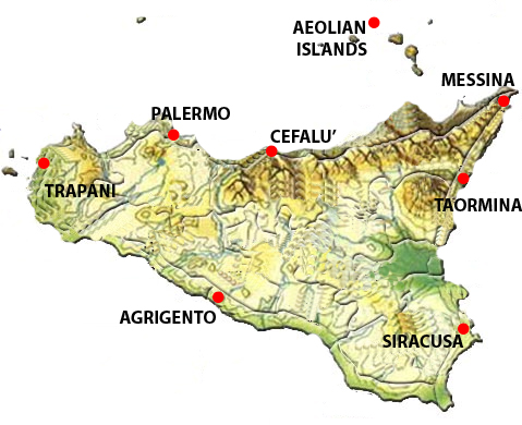 Top Tourist Map Of Taormina Mare Hotels
